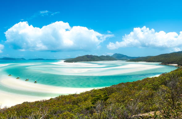 Jetskis on Whitehaven Beach