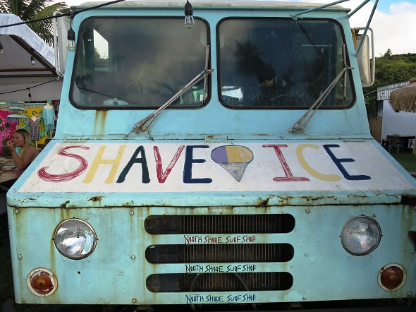 Old school Shave Ice food truck.