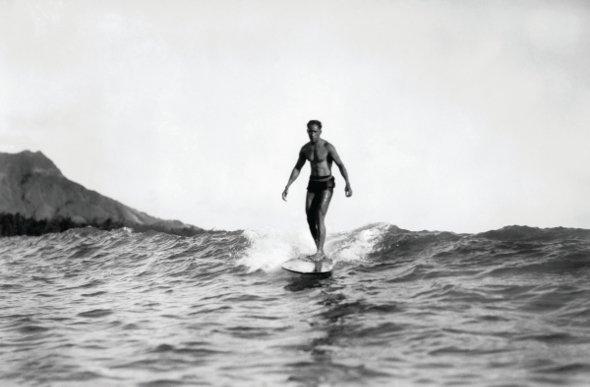 Duke surfing