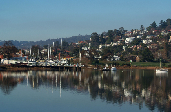 Launceston harbour with boats