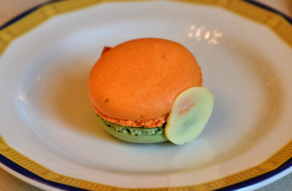 A macaron at High Tea at Peninsula Hotel