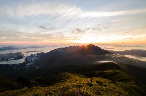 The view from Lantau Peak in Hong Kong