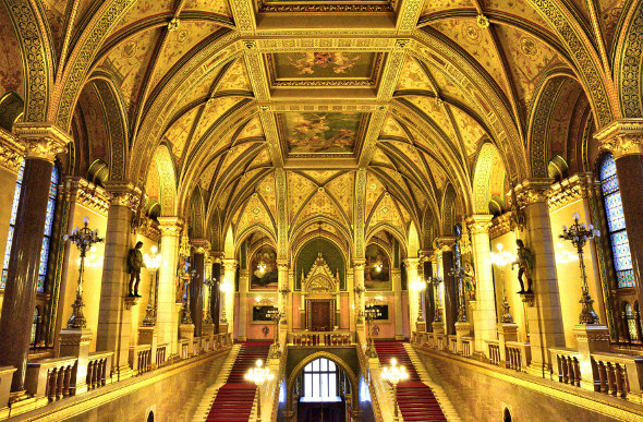 Gold everywhere in Hungarian Parliament Building