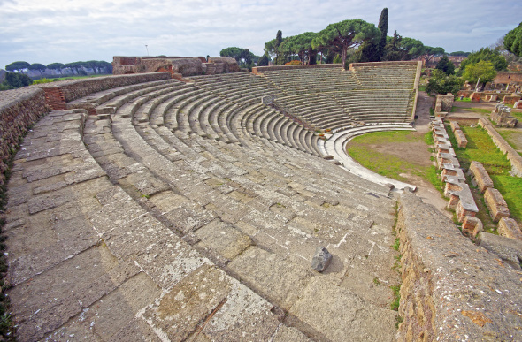 The famed Amphitheatre at Ostia Antica
