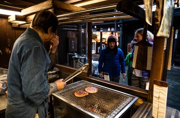 Street food stall in Japan