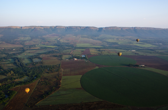 Magaliesberg Range hot air balloons