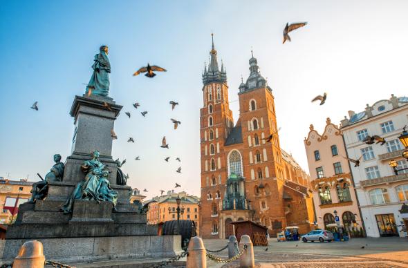 Krakow's Old Town.