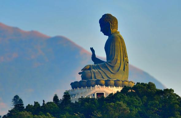 Giant buddha statue on mountain