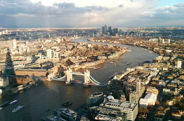 The view from the Shard across London. Picture: Getty Images