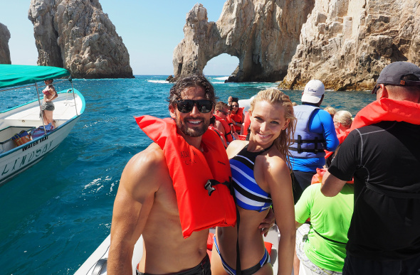 Tim Robards and Anna Heinrich snorkelling in Los Cabos