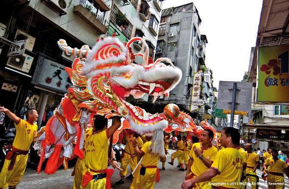 Macau dragon dance