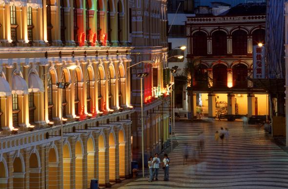 Antique buildings in Macau