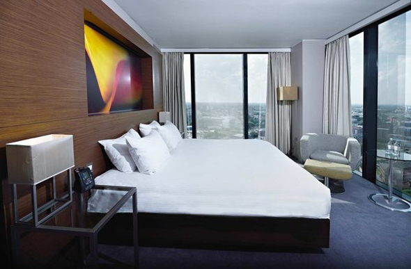 A King room with a view at the Hilton Manchester Deansgate