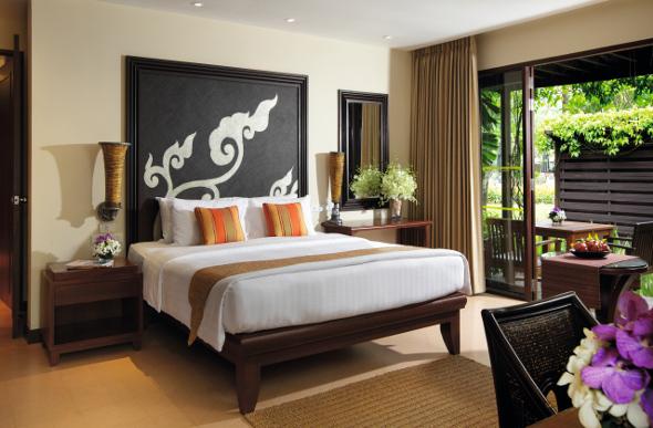 A luxury room at the Movenpick Resort & Spa Karon Beach in Phuket, Thailand.