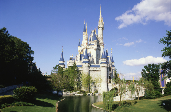 Cinderella Castle at Walt Disney World, Orlando, Florida, USA.