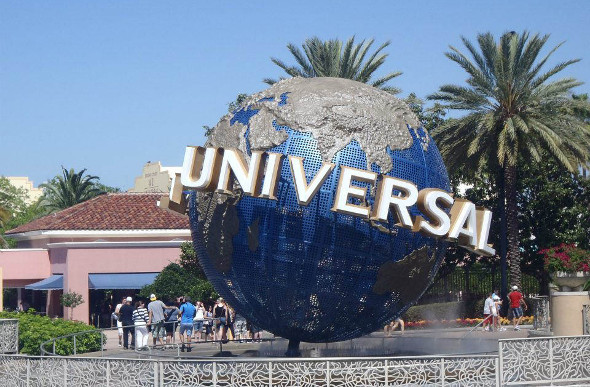 The entry to Universal Studios, Orlando, Florida, US.