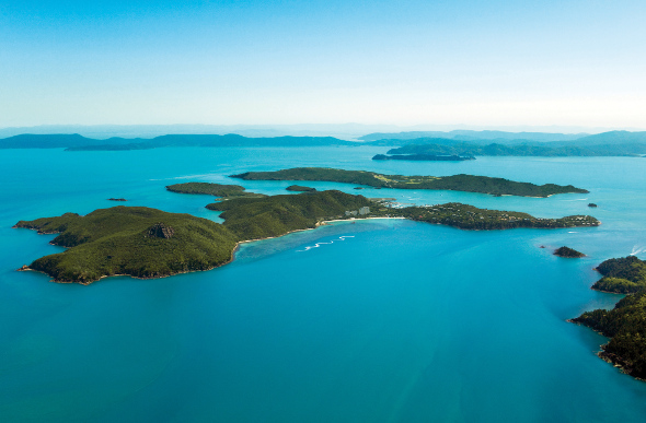 Hamilton Island floats in the blue ocean of the Whitsundays - a fitting place for a Mother's Day tribute.