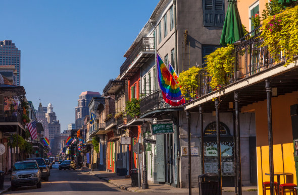 Lovely terraced buildings in the French Quarter of New Orleans. Picutre: Getty Images