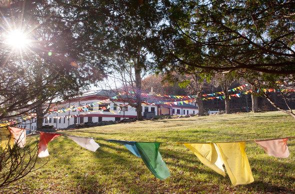 A Tibetan monastery at Woodstock, NY.