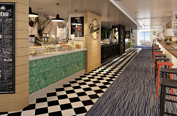p o cruises throws buffet dining overboard