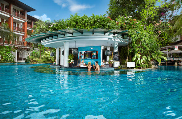Raise your glass to a swim up pool bar for Indonesia resorts bali