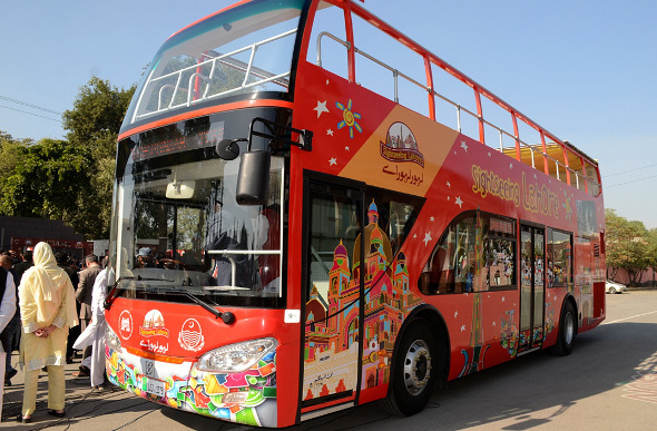 Pakistan sightseeing bus