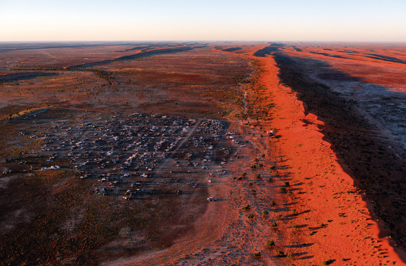 The big red dune on the edge of the Simpson Desert. Picture: TEQ