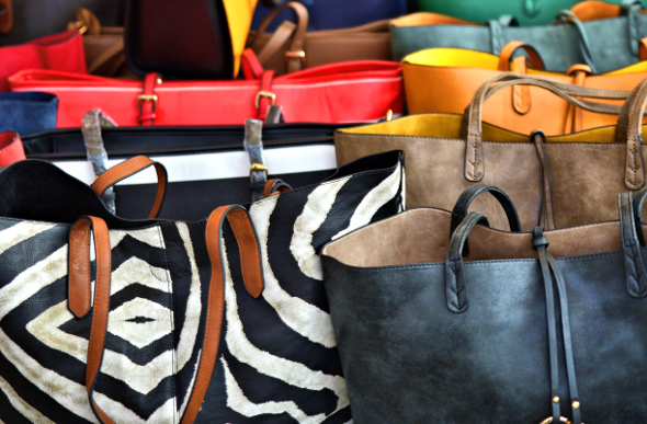 A collection of handbags for sale