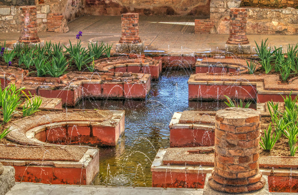 Lovely Roman gardens at Conimbriga, Portugal. Picture: Getty Images