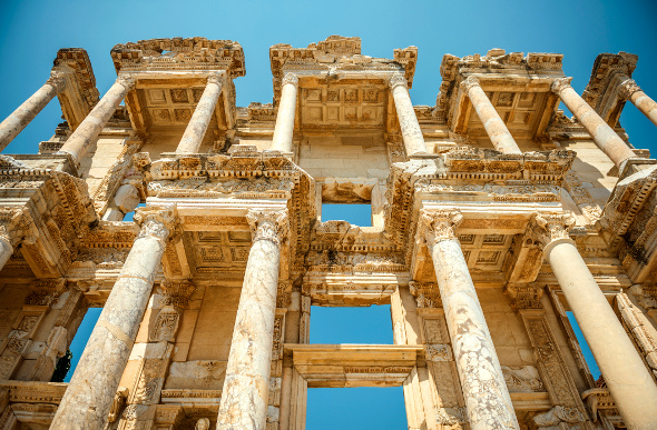 The Library of Celsus at Ephesus, Turkey. Picture: Getty Images