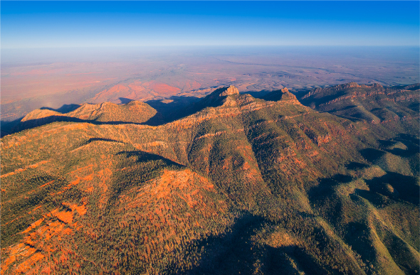 Wilpena Pound in the mesmerising Flinders Ranges.