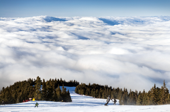Uncrowded runs in Borovets, Bulgaria.