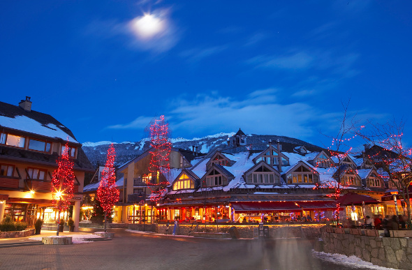 Whistler village in British Columbia, Canada.