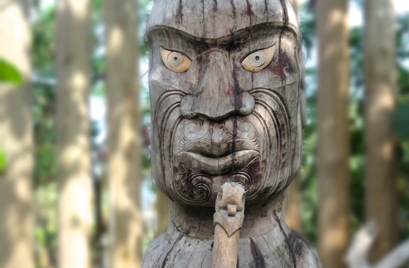 A Kanak sculpture on Duck Island off Noumea.