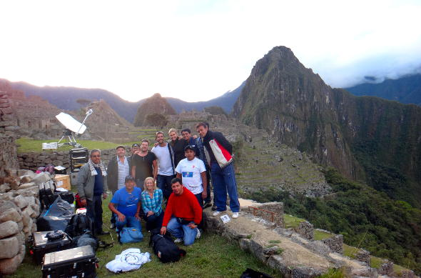 Edwina Bartholomew at Machu Picchu