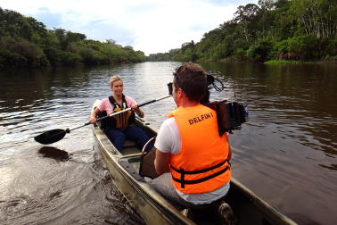 Edwina Bartholomew in the Amazon