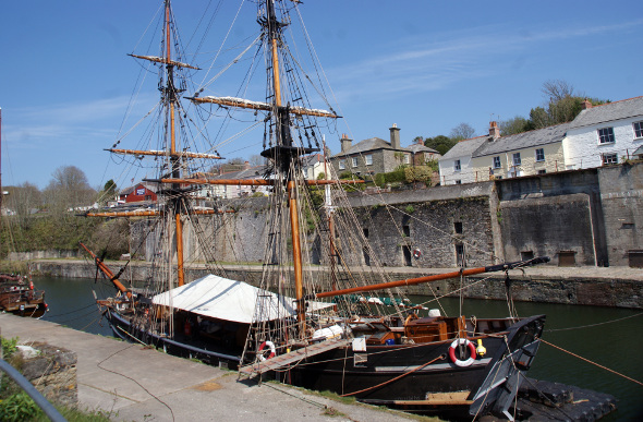 A vintage tall ship in Charlestown
