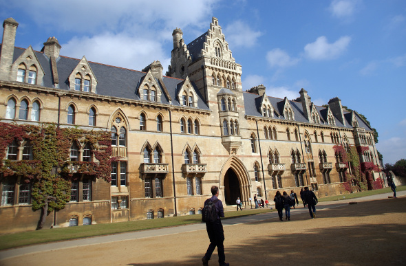 The yellow exterior of Christ Church College