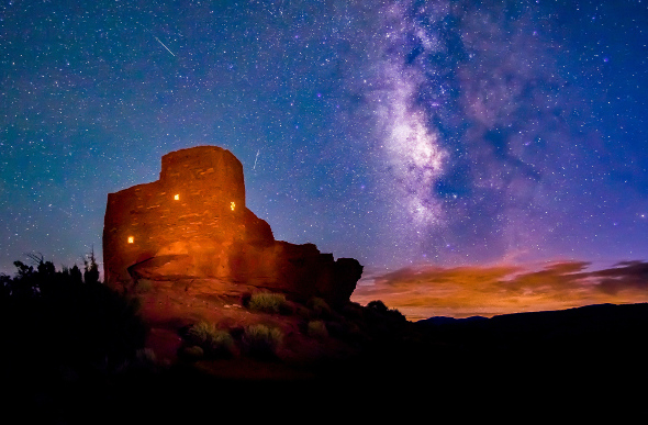 The Wupatki National Monument in the USA's Painted Desert. Picture: Getty Images
