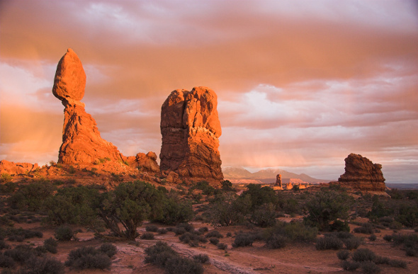 Balanced Rock defies gravity in Arches National Park. Picture: Getty Images
