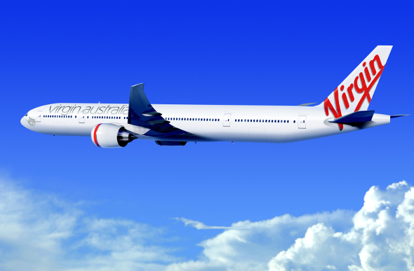 Virgin Australia Boeing 777-300ER aircraft flying