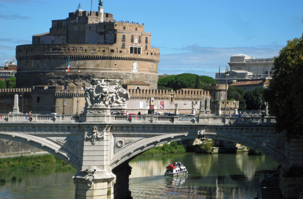 Castel Sant'Angelo by the Tiber River
