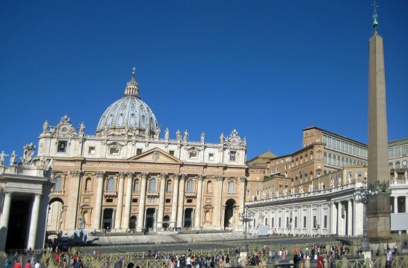 St Peter's Square and St Peter's Basilica
