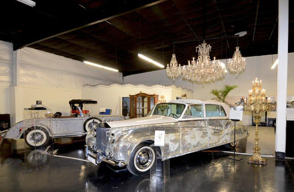 Liberace's cars at the Hollywood Cars Museum.