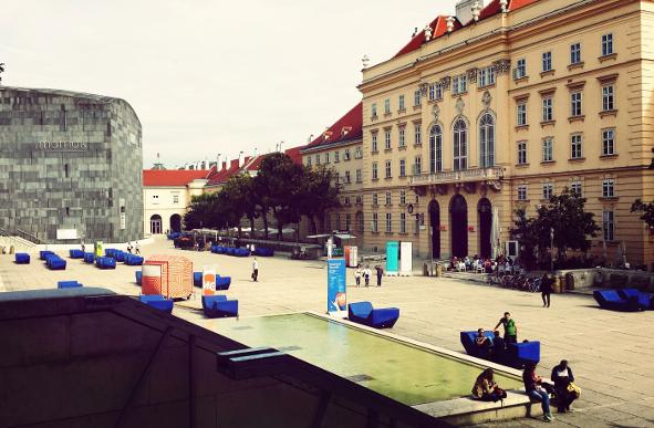 Explore Vienna's MuseumsQuartier.