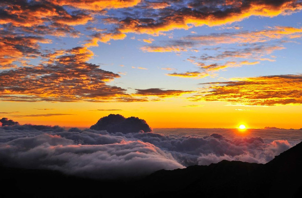 Sunrise at Haleakala, Hawaii.