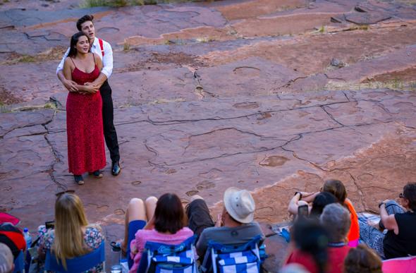 Opera performed in Kalamina Gorge, Western Australia.