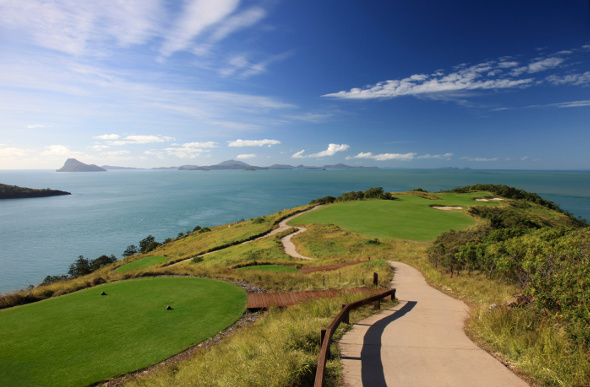 Gorgeous views of the Whitsunday Islands from Hamilton Island Golf Course.