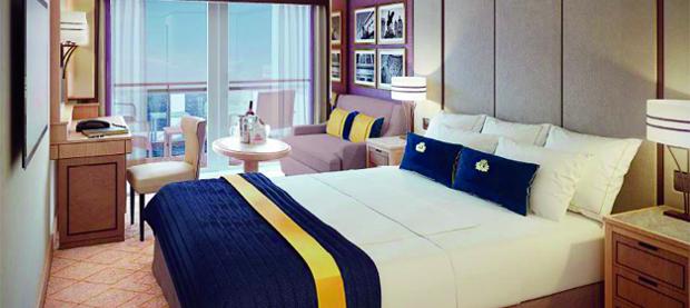 Cruise cabin with balcony