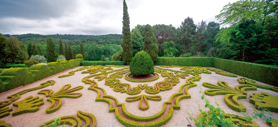 Topiary gardens at Casa de Mateus